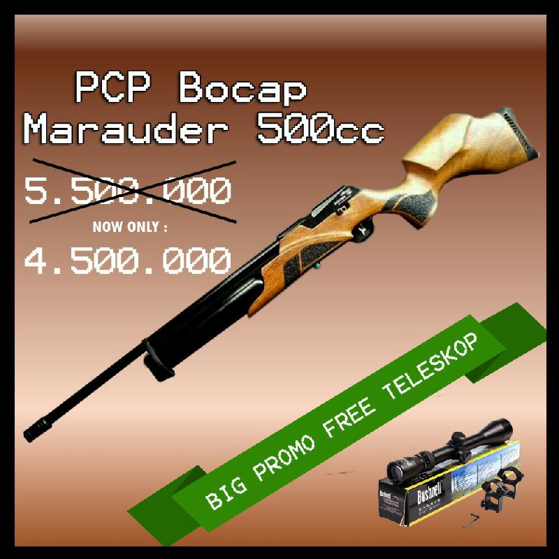 Promo Senapan PCP Bocap Marauder 500 cc