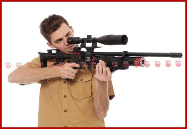 Senapan PCP Ghost Warrior Model Cowok Coklat Membidik