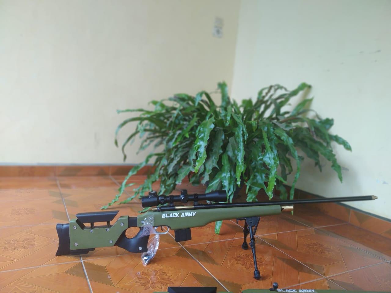Senapan Angin PCP Luger Black Army Popor AWP